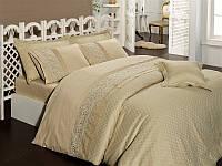 Комплект постельного белья First Choice vip бамбук жаккард bvip-03 elegance camel