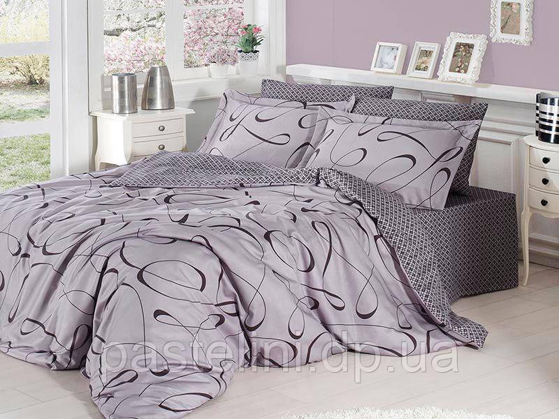Комплект постельного белья First Choice сатин люкс Calisto gri