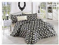 Комплект постельного белья Issihome сатин+жатый шелк  Damask 112