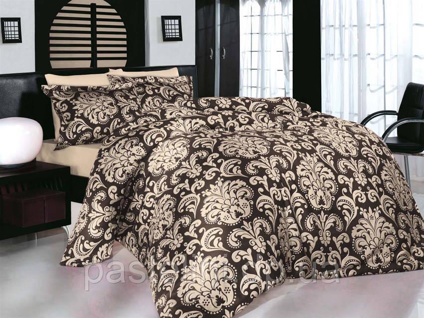 Комплект постельного белья Altinbasak сатин люкс  Era kahve