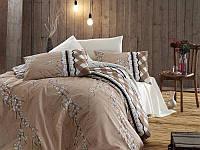 Комплект постельного белья First Choice de luxe ранфорс цветной gina krem