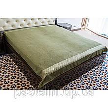 Простирадло Hanibaba бавовна махра Grek green 200x220