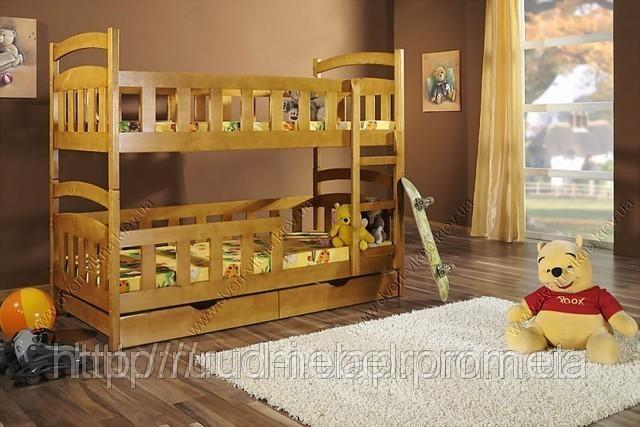 Детская кровать  из массива дерева  от производителя