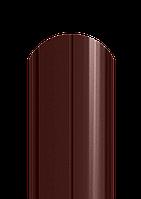 Штакет полукруглый, полиестер односторонний коричневый