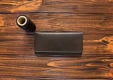 Портмоне с монетницей ручной работы из кожи Краст VOILE lw4-kbrn, фото 2