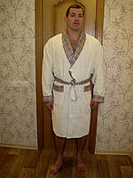 Велюр/махра средней длинный без капюшона, бамбук 100% ns 087 крем