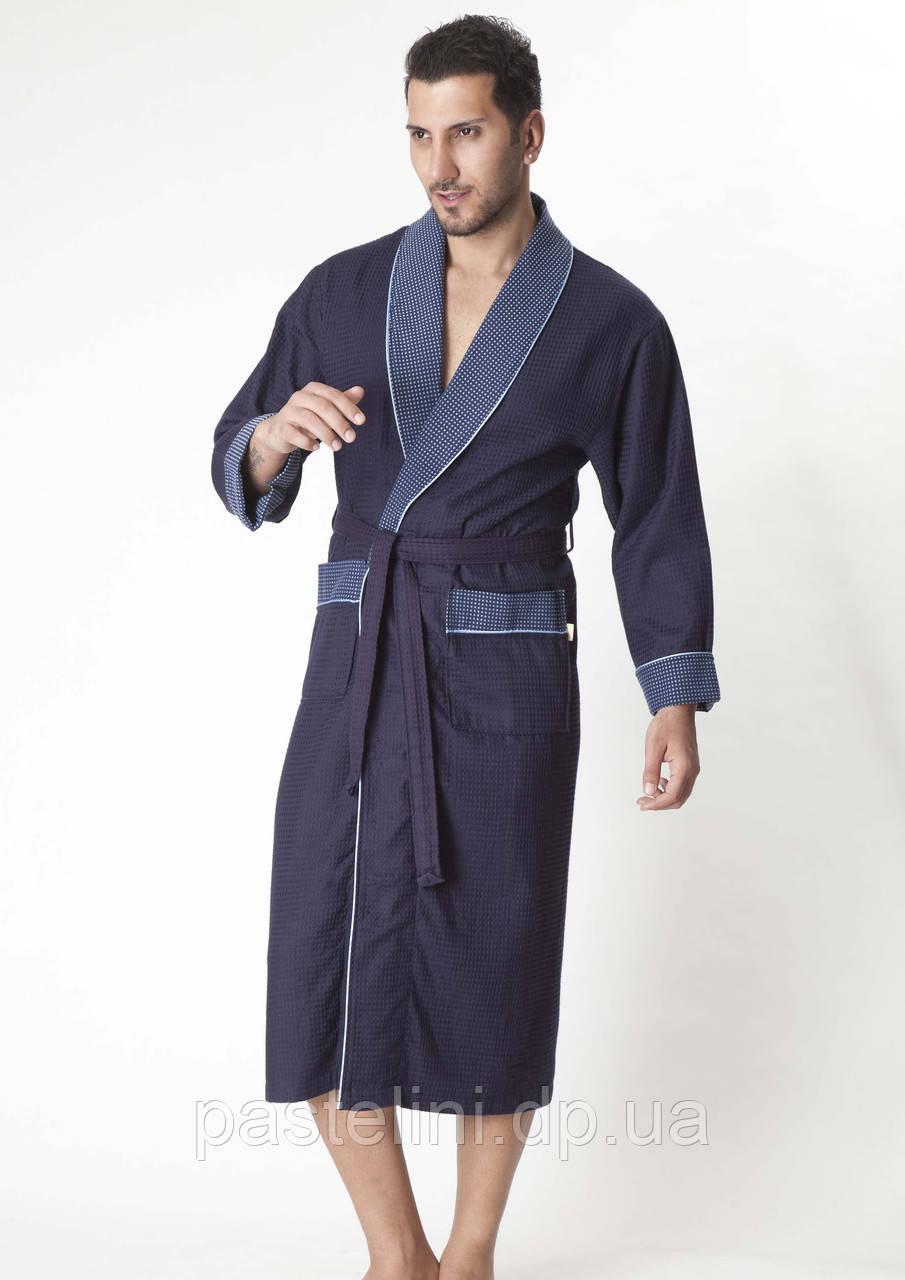 Вафля длинный без капюшона, бамбук 100% ns 15120 синий