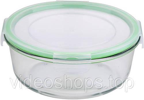 Контейнер стеклянный Bergner Glass Box Green 1200мл с пластиковой крышкой