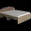 Кровать двуспальная Астория ДСП сонома + трюфель Эверест