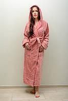 Велюр/махра длинный с капюшоном, бамбук 100% ns 3655 пудра