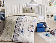 Комплект постельного белья First Choice сатин в детскую кроватку palmy lacivert