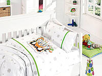 Комплект постельного белья First Choice сатин в детскую кроватку penguins yesil
