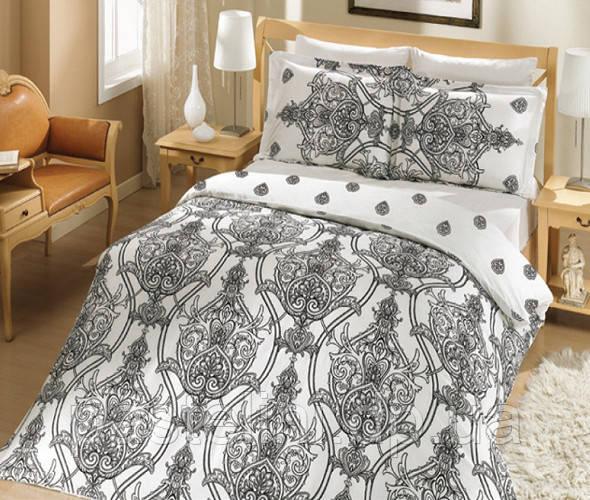 Комплект постельного белья Altinbasak сатин люкс Scarlet Siyah
