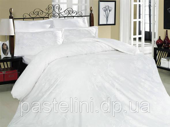 Комплект постельного белья Altinbasak сатин люкс Sehrazad beyaz
