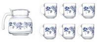 Набор чайный 7пр. Luminarc Altese Blue 6224n