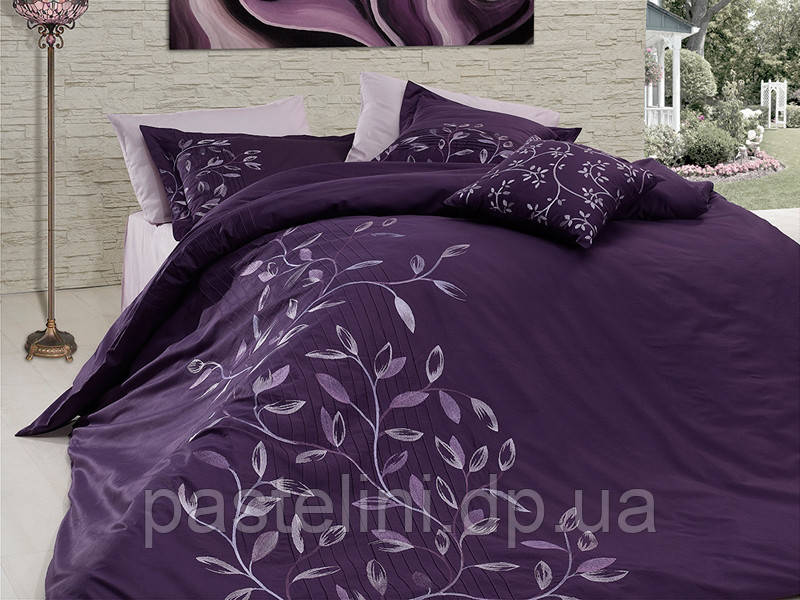 Комплект постельного белья First Choice vip сатин жаккард svip -03 casabbanca mor