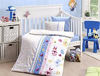 Комплект постельного белья First Choice сатин в детскую кроватку sweet toys mavi