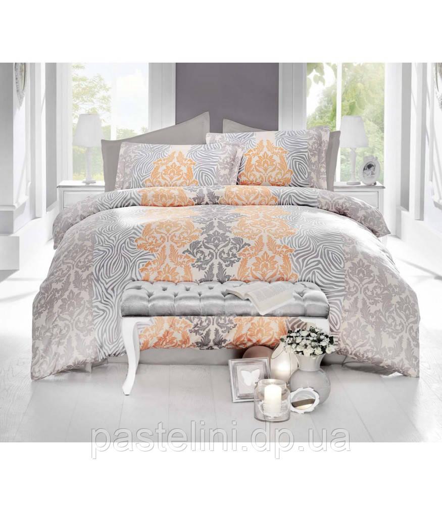 Комплект постельного белья Altinbasak сатин люкс  Vivid  krem