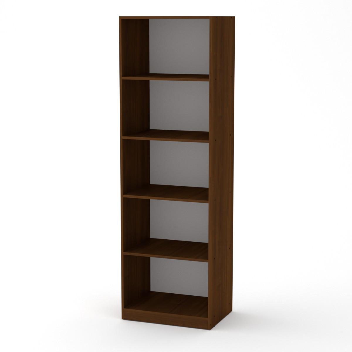 Шкаф книжный КШ-1 орех экко Компанит (61х45х195 см)