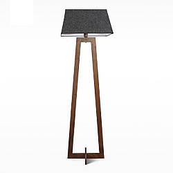Деревянный торшер с тканевым абажуром в стиле модерн в спальню, зал, кафе 8430-3