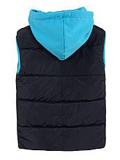 Детская демисезонная жилетка на мальчика, синяя, р.110,122,128, фото 2
