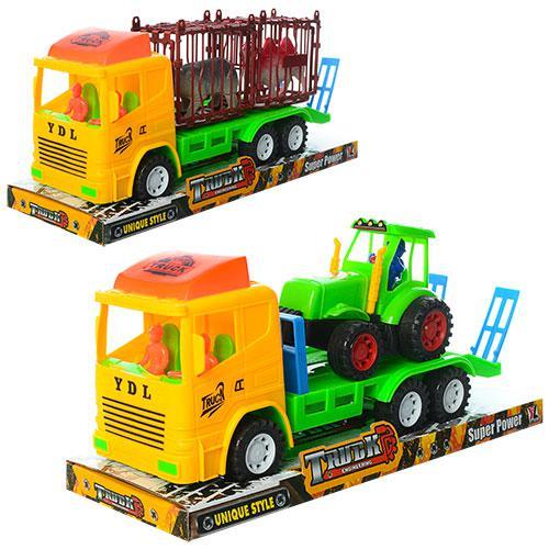 Трейлер 1100-14-22 (36шт) инер-й, 27см, 2вида(животные,трактор), в слюде,32-11,5-15см