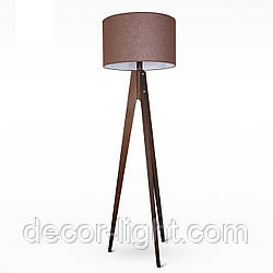 Деревянный торшер с тканевым абажуром в стиле модерн в спальню, зал, кафе 9930-3