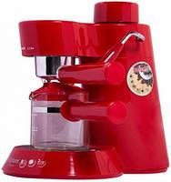 Рожковая кофеварка эспрессо Saturn ST-CM7086 red
