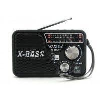 Радиоприемник XB-521URT(USB.TF.SD,фонарик)
