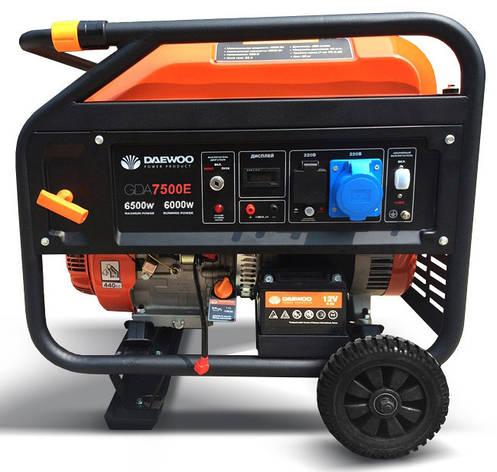 Бензиновий генератор Daewoo GDA 7500E, фото 2