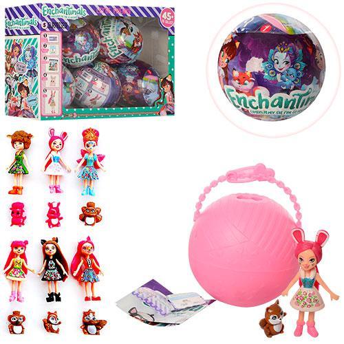 Кукла TBG383808 (72шт) НСН, шар 9,5см, фигурка 3см, 6шт(микс видов) в дисплее,30-20-10см