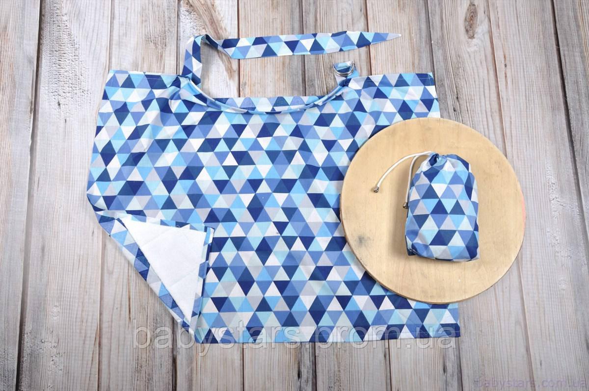 Фартук для кормления ребенка, накидка + сумочка-чехол, Мозайка