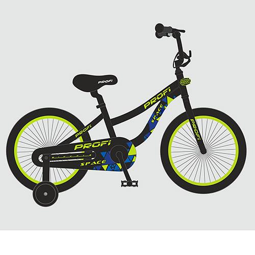 Велосипед детский PROF1 20д. T20152 (1шт)Space,черный,звонок,подножка