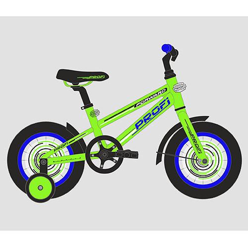Велосипед детский PROF1 18д. T1872 (1шт) Forward,салатовый,звонок,доп.колеса