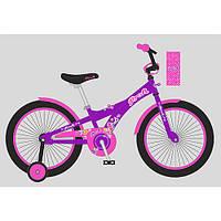 Велосипед детский PROF1 20д. T2063 (1шт) Original girl,фиолетов.-розов.,звонок,подножка