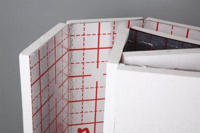 Теплый пол (пенополистирол фольгированный с разметкой) 30мм