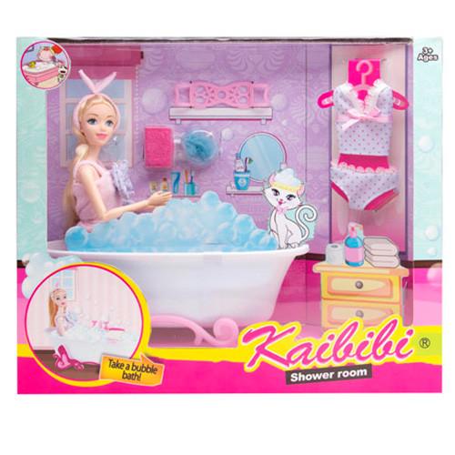 Кукла BLD156 (12шт) 30см, ванна 24см, наряд, аксессуары, в кор-ке,36-30,5-9см