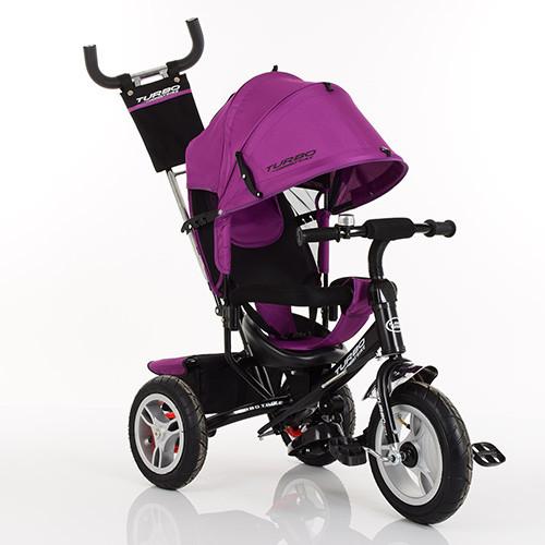 Велосипед M 3113A-18 (1шт)три кол.резина (12/10),колясочный,своб.ход кол.,торм.,подшипн.,фуксия