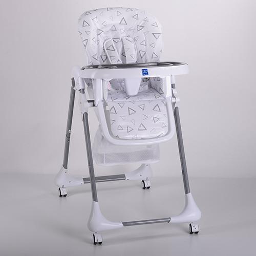 Стульчик M 3233-13 (1шт) для кормления, 5точ.ремни, столик выдв. 4колеса, серый