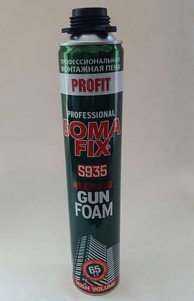 """Піна монтажна  літня  S935 MULTI PURPOSE """"Soma Fix"""" професійна, 800 мл / 65 л (літня), фото 2"""