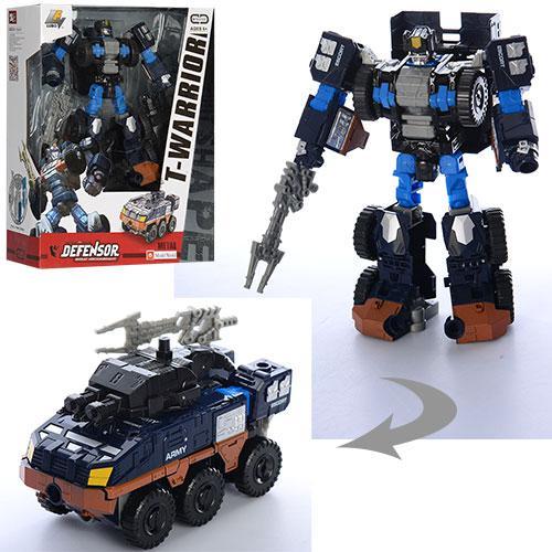 Трансформер J8031B (24шт) металл, 18см, робот+машина, оружие, в кор-ке, 24-29-10см