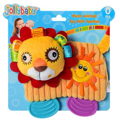 Погремушка WLTH8132J-4 (60шт) лев,20см,прорезыватель,плюш,на листе,в кульке,22-20,5-4см