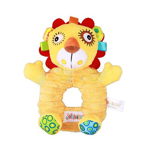 Погремушка WLTH8139J-5 (120шт) лев, 17см, плюш, на листе, в кульке, 21-18-5см