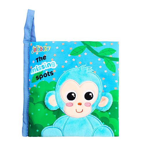 Книжка WLTH8153J-3 (60шт) обезьянка, 15,5см, шуршалка, в кульке, 16-25-3см