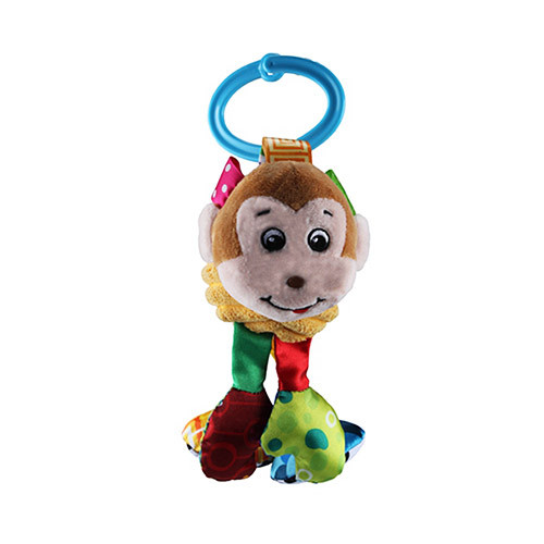 Подвеска на коляску WLTH8094S (90шт) обезьянка,20см,растяжка,шурш,пищалка,на листе,кул,12-12-7см