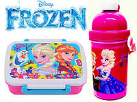 """Набор """"Frozen - Фроузен, холодное сердце"""". Бутылка с трубочкой и  Ланч бокс (ланчбокс)"""