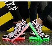 Светящиеся кроссовки, Подростковые светящиеся кроссовки (led подсветка)