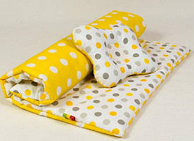 Набор в детскую коляску BabySoon Солнышко одеяло 65х75 см подушка 22х26 см желтый