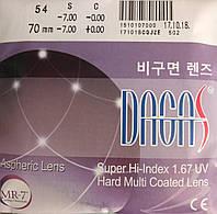 Линзы для очков Dagas 1.67 АS (С покрытием HMC+UV400)