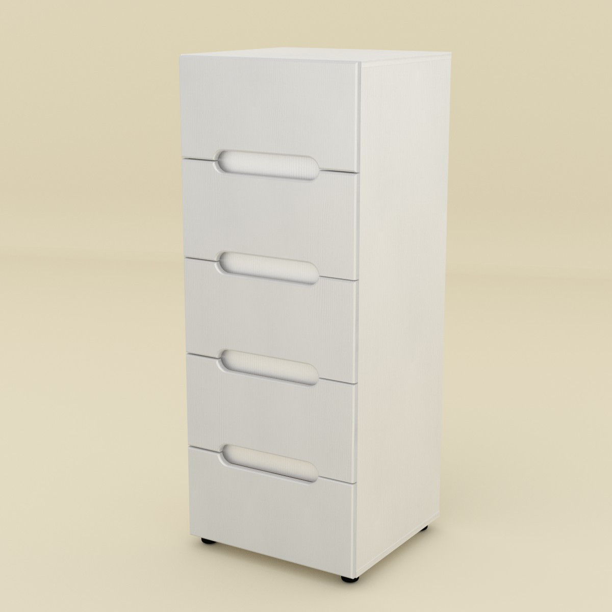 Комод МС-8 МДФ нимфея альба (белый) Компанит (50х46х127 см)
